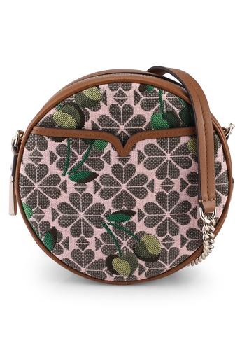 kate spade new york multi Flower Jacquard Drum Cherry Crossbody Bag 458E8AC8F99091GS_1