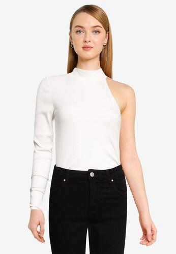 Vero Moda white Sadie Asymmetrical Top 489A6AA5E88901GS_1
