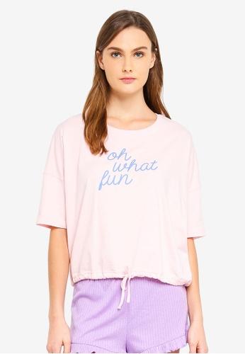 Cotton On Body pink Jersey Tie T-Shirt C1952AA31837FFGS_1