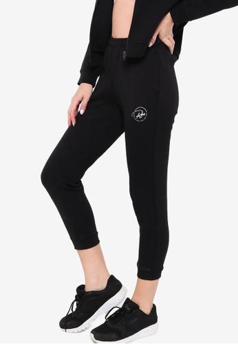 361° black Running Series Knit Cropped Pants 441F9AAE7DEC90GS_1
