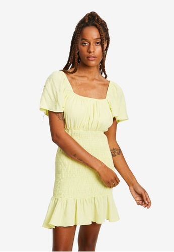 Sável yellow Adelin Mini Dress E8C15AA084CEE7GS_1