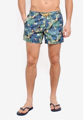 MANGO Man green Tropical Print Boardshorts 5640AAAFD912C3GS_1