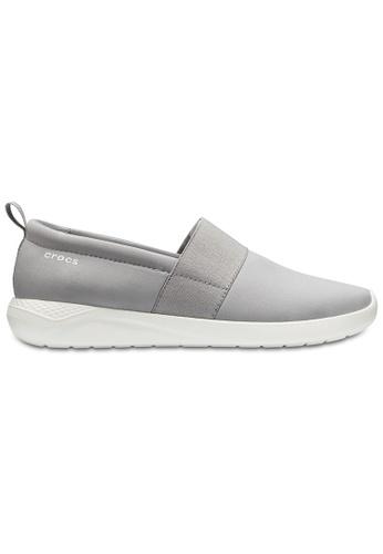 Crocs grey Women's LiteRide™ Slip-On Lgr/Whi ADDB0SH69C78BCGS_1