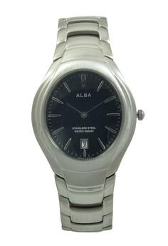 Image of ALBA Jam Tangan Pria - Silver Black - Stainless Steel - AVKC47
