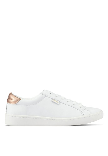 Keds white and gold Ace Ltt Leather Sneakers KE942SH0STG3MY_1