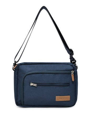 YEYHO black and blue YEYHO Sling Bag Navy Blue 02079AC08CE508GS_1