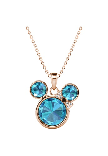 LOVE AND LIFE gold Love & Life Minnie Pendant (Rose Gold Aquamarine) Premium Crystals with 18K Real Gold Plated 74768AC9E8135EGS_1
