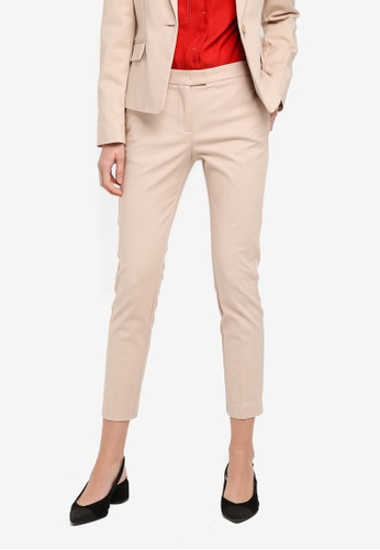 Mango beige Slim-Fit Cotton-Blend Trousers MA193AA0T0XBMY_1