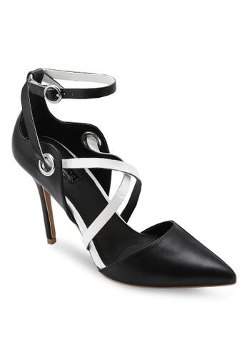 撞zalora時尚購物網的koumi koumi色交叉帶尖頭高跟鞋, 女鞋, 鞋