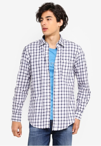United Colors of Benetton blue Checked Shirt B625CAA5A74D92GS_1