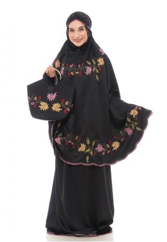 First Hijab black Maida Prayer Set Premium in Black 8478AAA0C4F5FFGS_1