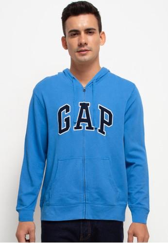 Gap blue Arch Zip Hoodie 17B69AAD8D694CGS_1
