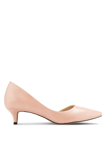 Nose brown Pointed D'Orsay Heel Pumps NO327SH30CWBMY_1