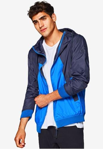 ESPRIT 海軍藍色 Outdoor Woven Regular Jacket 1C2CDAA7BBD8DAGS_1
