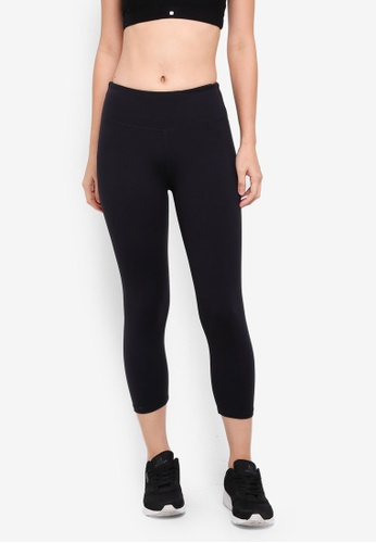 Cotton On Body black Active Core Cropped Tights 94DE0AA7A49D2FGS_1