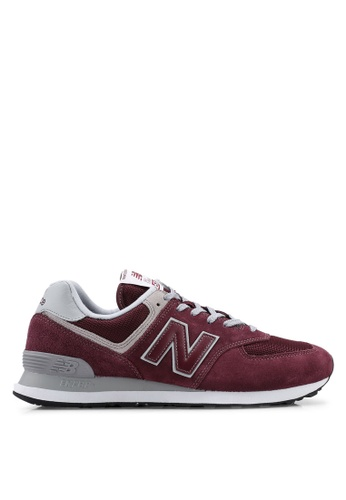 New Balance red 574 Evergreen Shoes 9956FSHFB9633FGS_1