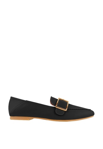 CO BLANC black CO BLANC Loafers with Rectangular Buckle 2E692SHD6DF9E0GS_1
