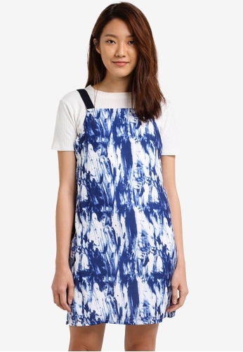 Something Borrowed blue Strap Detail Pinafore Dress 9433FAA56F4726GS_1