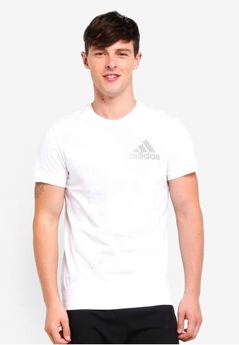 adidas 白色 短袖印花T恤 7C3FBAAAC59038GS_1