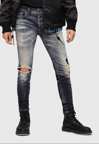 8282800c Buy Diesel Sleenker Skinny Slim Jeans Online on ZALORA Singapore