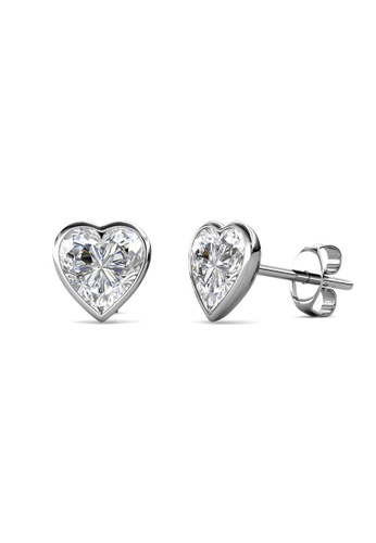 Her Jewellery silver Sweet Stone Earrings (Crystal) -  Made with premium grade crystals from Austria 19B2DAC850BB10GS_1