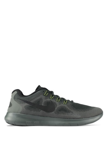 Nike black and green Men's Nike Free RN Running Shoes NI126SH0SHGMMY_1