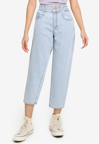 JACQUELINE DE YONG blue Celia High Waist Denim Jeans 10C54AA7B9C114GS_1