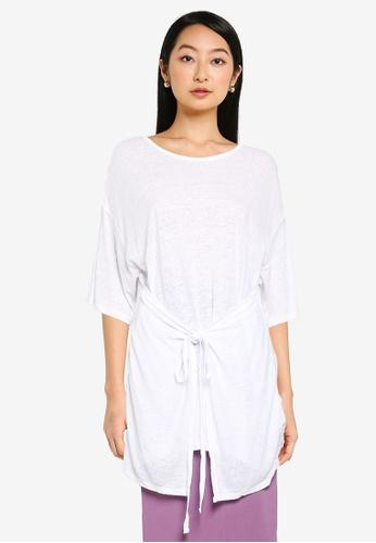 JEANASIS white Hanky Hem Oversized T-Shirt B569FAA7B1C902GS_1