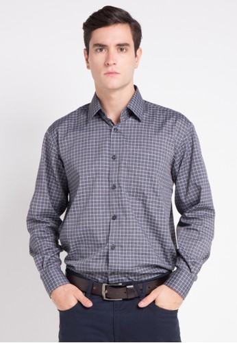 Van Heusen grey VAN HEUSEN LONG SLEEVES REGULAR FIT SHIRT 64A07AAFB3D755GS_1