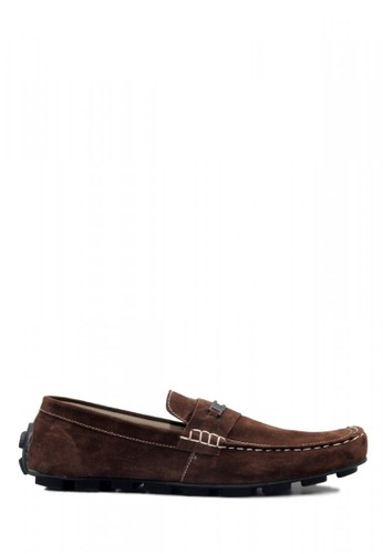 D-Island brown D-Island Shoes Moccasins Slip On Lacoste Suede Brown D93F0SHD4EAE3AGS_1