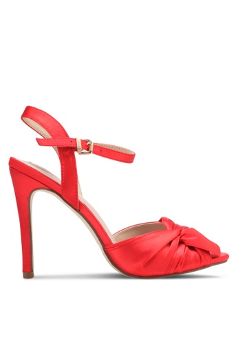 Velvet red Satin Heels 10E7ESHDE34FFDGS_1