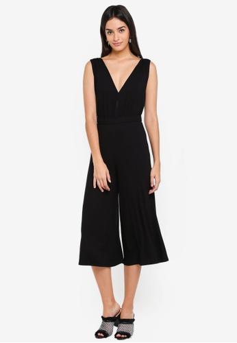 Miss Selfridge black Airport Jumpsuit Black AA1F0AAB817B2BGS_1