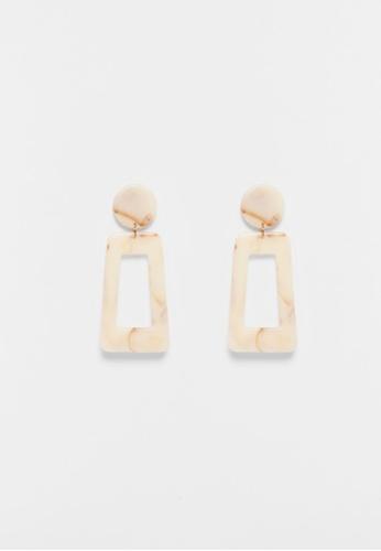 Love, Bonito beige Yanet Marble Earrings 49700AC1997234GS_1