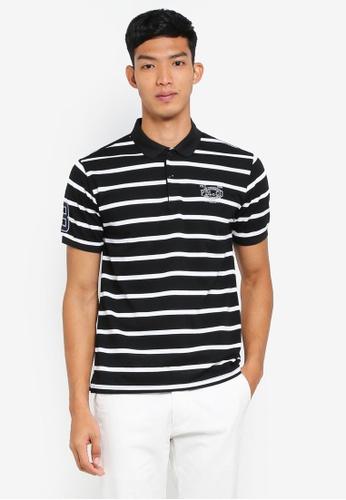 Fidelio 黑色 短袖條紋POLO衫 E8CD5AAAE6D6ECGS_1