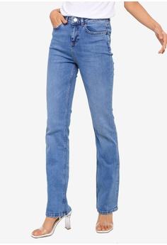 3dd4c4aa Dorothy Perkins blue Mid Wash 'Kick Flare' Jeans AB394AAEA4BA52GS_1