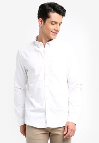 River Island white Oxford Shirt 23B8CAAF94C82BGS_1