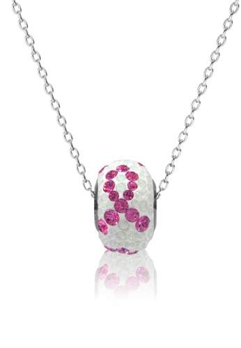 Her Jewellery white and pink BeCharmed Pave Pink Braided Pendant- Made with premium grade crystals from Austria 74657AC05E0467GS_1