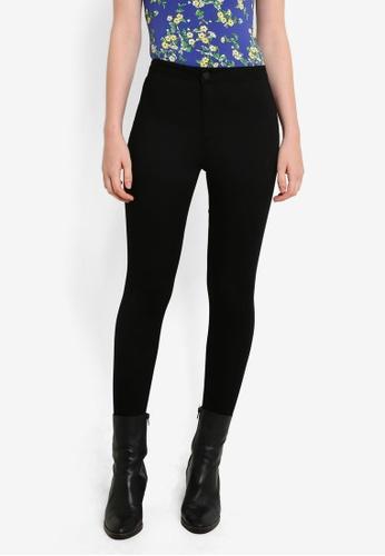 Miss Selfridge black Petite Steffi Stirrup Jeans MI665AA0RI2MMY_1