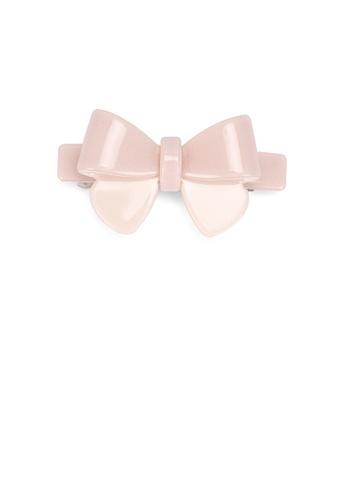 Glamorousky silver Fashion Simple Pink Ribbon Large Hair Slide 2C9B5ACA03955DGS_1