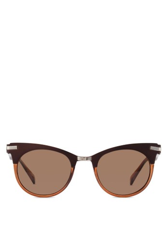 West 貓眼太陽眼鏡, 飾品配esprit門市地址件, 圓框