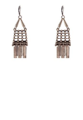 流蘇串珠耳環zalora 衣服尺寸, 飾品配件, 耳扣
