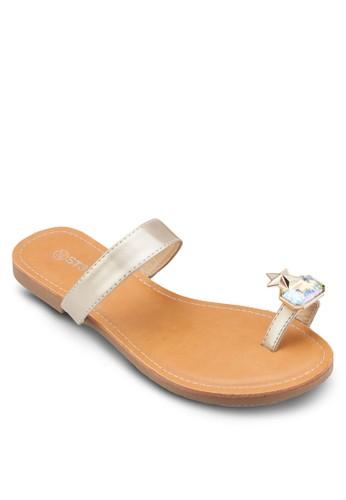 閃石夾趾涼鞋esprit台灣門市, 女鞋, 鞋