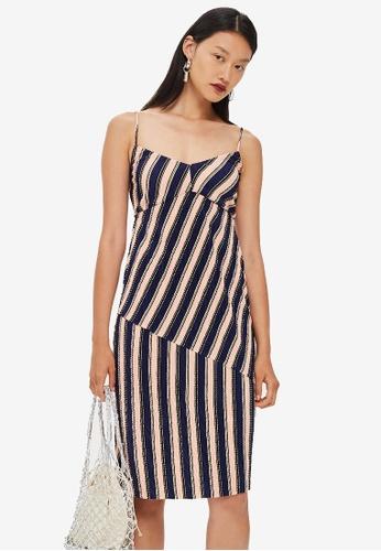 TOPSHOP multi Mix Stripe Slip Dress CBAADAAB96C649GS_1