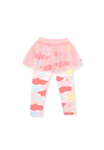 OETEO pink and multi Camo Flash Tulle Skirt Leggings (Pink) F0783KA73E932AGS_1