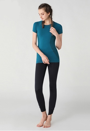 HAKA ACTIVE 綠色 女裝運動上衣健身訓練瑜伽服T恤 63618AA354C298GS_1
