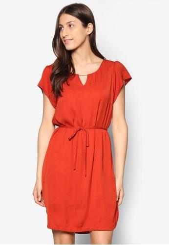 Siba 金屬條圓領洋裝, 服飾esprit outlet 家樂福, 洋裝