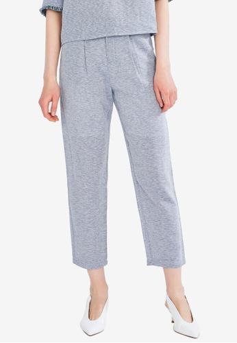 Hopeshow grey Slim Fit Pants 70942AAFC9A53AGS_1