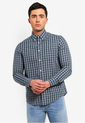 OVS 綠色 Mens Formal 襯衫 With 長袖 36B4CAA0CC1F5BGS_1