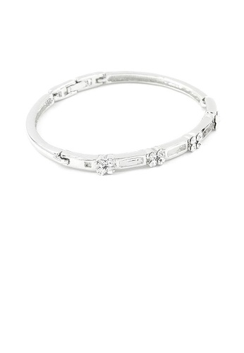 Glamorousky silver Elegant Bangle with Silver Austrian Element Crystals 41C25AC18C3610GS_1