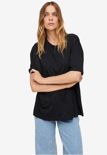 Mango black Oversize Cotton T-Shirt B2117AABD2ADA0GS_1